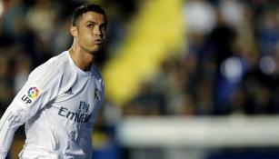 CR7 se lamente durante un partido del Madrid