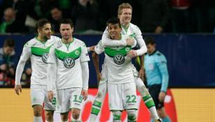 Schürrle festeja el gol del triunfo con sus compañeros