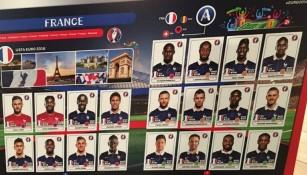 Selección de Francia que forma parte del album Panini de la Euro 2016