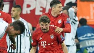 Müller celebra su gol contra la Juventus
