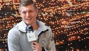 Kroos habla en un evento publicitario del Real Madrid