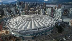 Vista aérea del BC Place en Vancouver