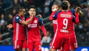 El Rebaño festeja un gol sobre Rayados