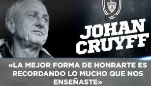 Cruyff, recordado por los Tuzos