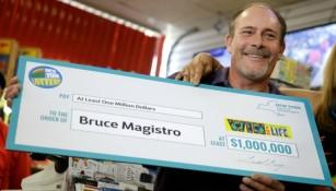 Bruce Magistro, ganador de 1 mdd en la lotería