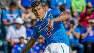 Maza Rodríguez en partido con Cruz Azul