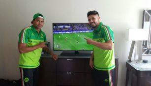 'Gullit' Peña y Oribe Peralta disfrutan de la Final de Champions League