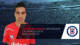 Julián Velázquez, nuevo refuerzo de Cruz Azul