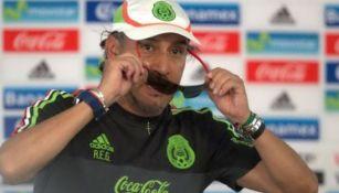 Potro Gutiérrez en concentración del Tri