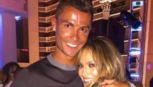 Cristiano subió una fotografía con JLo en Las Vegas