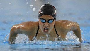 Yusra Mardini durante una competencia en Río 2016
