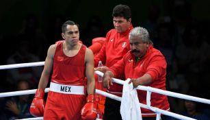 Misael Rodríguez previo a una pelea