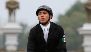 Ismael Hernández durante la prueba de equitación en pentatlón moderno