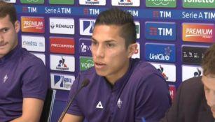 Salcedo en conferencia de prensa con su nuevo equipo