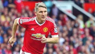 Bastian Schweinsteiger jugando con el Manchester United