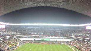 Imagen panorámica del Azteca durante el partido contra León