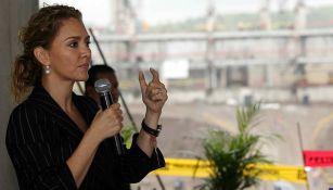 Angélica Fuentes, durante un evento
