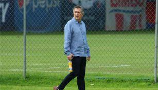 Jorge Vergara, durante un entrenamiento de las Chivas