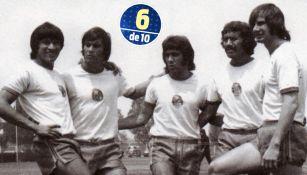 Jugadores del América de la década de los 70, entre ellos Borja y Reinoso