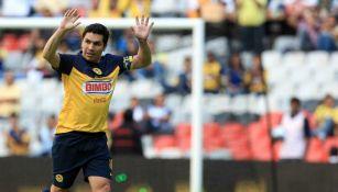 Salvador Cabañas, durante un partido con el América