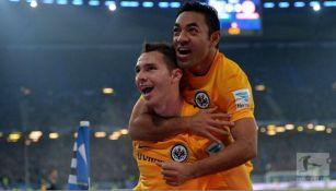 Fabián celebra un gol del Frankfurt