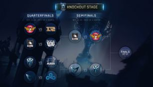 El bracket de las Semifinales del Mundial de League of Legends