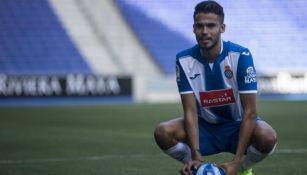 Diego Reyes porta la camiseta del Espanyol