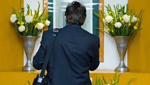 Ricardo Antonio La Volpe dirige una oración a la Virgen de Guadalupe
