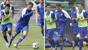 Santiago Giménez entrena con Cruz Azul