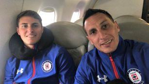 Christian Giménez con su hijo Santiago, durante el viaje a Estados Unidos