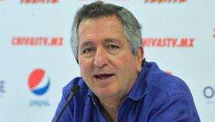 Jorge Vergara durante una conferencia de prensa