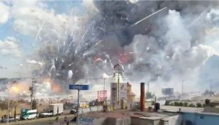 Explosión en el mercado de San Pablito, ubicado en el municipio de Tultepec