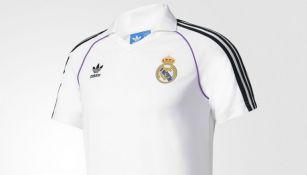 Así luce la playera retro del Real Madrid