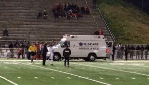 Ambulancia en la que fue trasladado el juvenil rojinegro