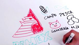 Uno de los momentos del video 'Draw my life Pemex'