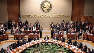 El Consejo General del INE durante una sesión