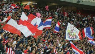 Afición de Chivas, durante el partido contra Pumas de la J1 del C2017