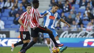 Reyes disputa un partido con el Espanyol en La Liga