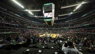 La Arena Ciudad de México lucía vacía antes del partido de la NBA