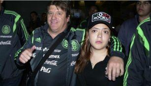 'La Pioja' con su papá cuando era entrenador de la Selección Mexicana