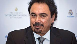 Hugo Sánchez habla en la conferencia de la Fundación RM