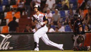 Tigres de Quintana Roo en un juego de la Liga Mexicana de Béisbol