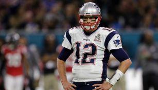 Tom Brady, QB de New England Patriots, durante el Super Bowl LI