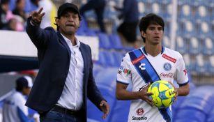 José Saturnino Cardozo en un partido del Puebla