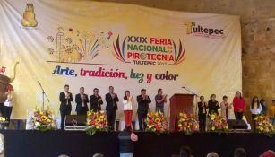 Autoridades de Tultepec en la inauguración de la FNP 2017