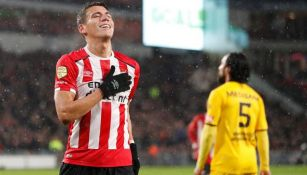 Moreno celebra su anotación frente al Roda