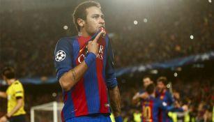Neymar celebra triunfo frente al PSG