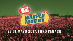 Cartel que anuncia el Warped Tour en México