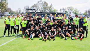 Jugadores del América muestran unión tras suspensión de Aguilar