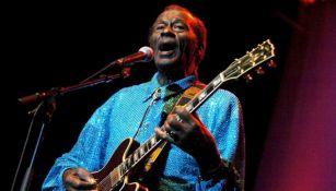 Chuck Berry durante una de sus presentaciones